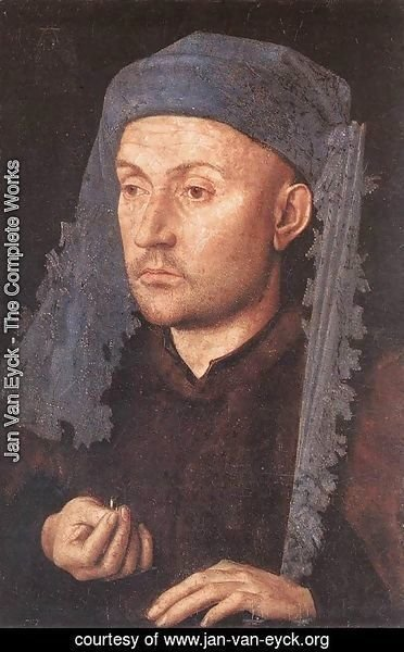 Jan Van Eyck - Portrait of a Goldsmith (Man with Ring)