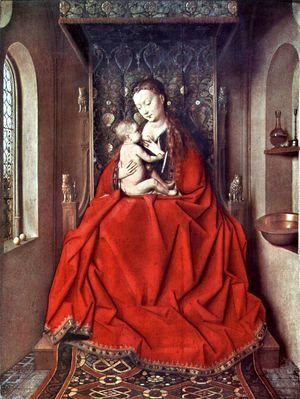 Jan Van Eyck - Suckling Madonna Enthroned