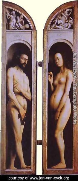 Jan Van Eyck - Adam and Eve