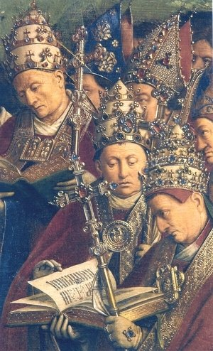 Ghent Altarpiece, Popes and Bishops (detail)