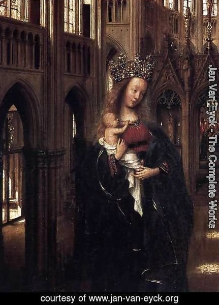Jan Van Eyck - Madonna in the Church (detail)