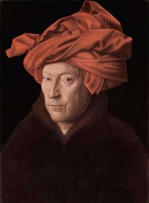 Jan Van Eyck - Man in a Red Turban