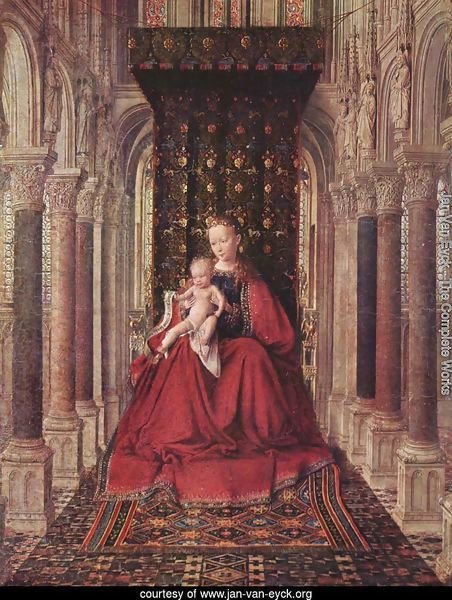 Marienplatz altar, Dresdner triptych, middle panel, Mary with child