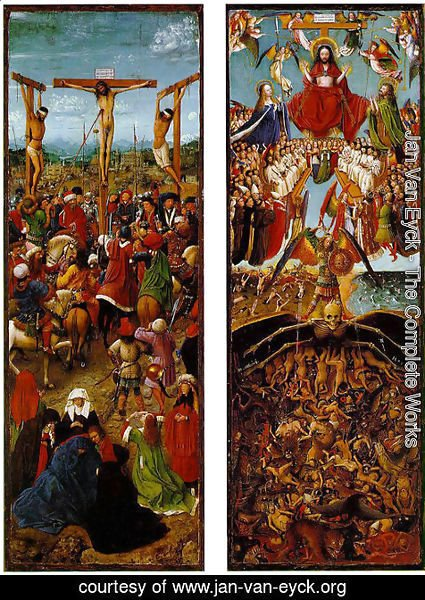 Jan Van Eyck - The Crucifixion, The Last Judgment