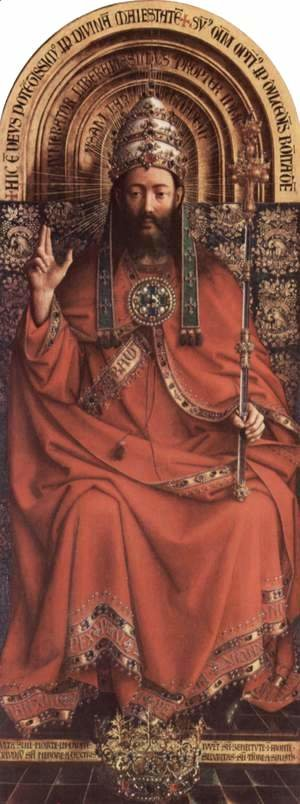 Jan Van Eyck - The Ghent Altarpiece, God Almighty