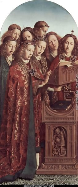 The Ghent Altarpiece, Singing Angels