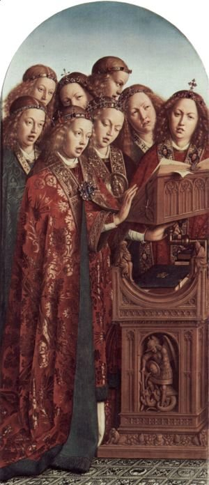 Jan Van Eyck - The Ghent Altarpiece, Singing Angels