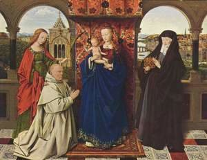 Jan Van Eyck - The Madonna with the Carthusians