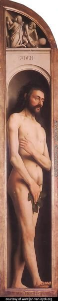 Jan Van Eyck - The Ghent Altarpiece Adam; Cain and Abel