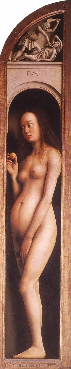 Jan Van Eyck - The Ghent Altarpiece Eve; The Killing of Abel