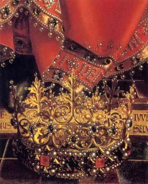 Jan Van Eyck - The Ghent Altarpiece God Almighty (detail)