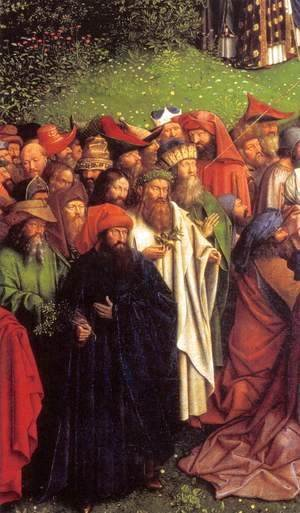 Jan Van Eyck - The Ghent Altarpiece Adoration of the Lamb (detail) 2