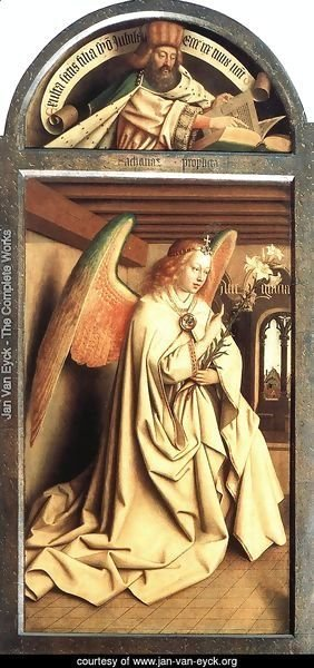 The Ghent Altarpiece Prophet Zacharias; Angel of the Annunciation