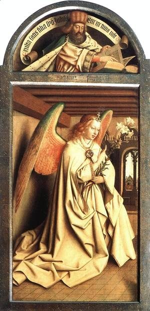 Jan Van Eyck - The Ghent Altarpiece Prophet Zacharias; Angel of the Annunciation