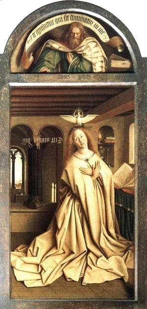 The Ghent Altarpiece Prophet Micheas; Mary of the Annunciation