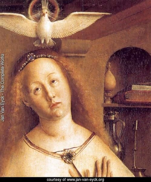 The Ghent Altarpiece Mary of the Annunciation (detail)