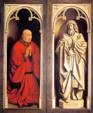 The Ghent Altarpiece Donor and St John the Baptist