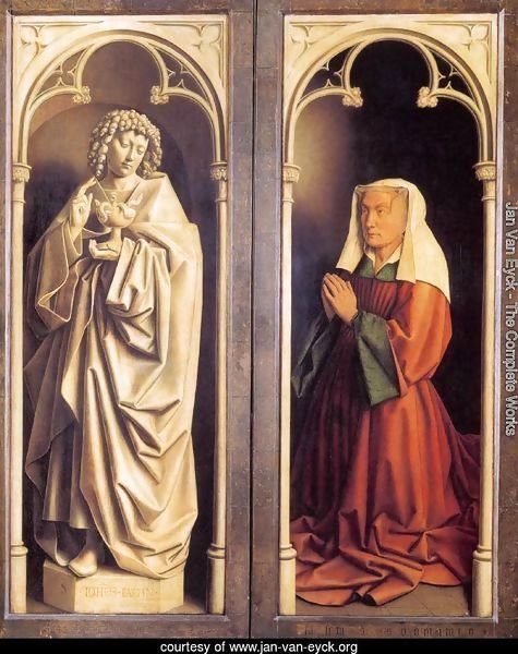 The Ghent Altarpiece St John the Evangelist and the Donor's Wife