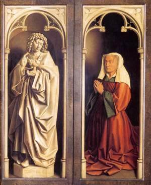 Jan Van Eyck - The Ghent Altarpiece St John the Evangelist and the Donor's Wife