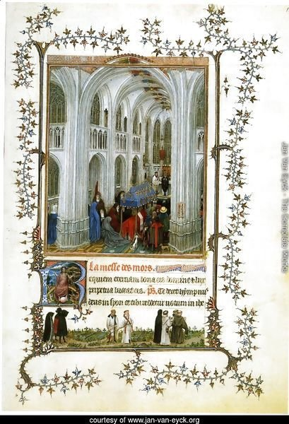 Miniature Turin-Milan Hours Burial Mass