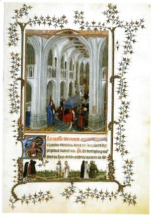 Jan Van Eyck - Miniature Turin-Milan Hours Burial Mass
