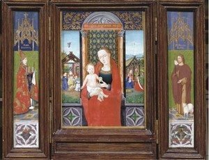 Jan Van Eyck - The Virgin and Child, Saint Donatianus and Saint John the Baptis