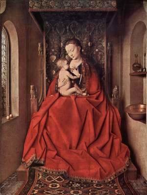 Jan Van Eyck - Our Lady of Lucca, Mary nursing