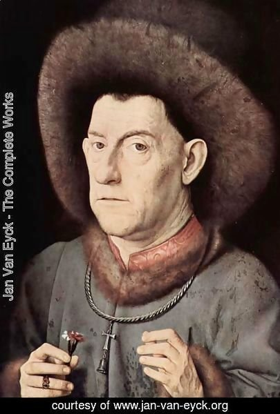 Jan Van Eyck - Portrait of a man of Garofano