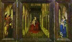 Jan Van Eyck - Virgin and Child with St. Michael, St. Catherine and a Donor