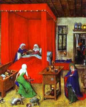 Jan Van Eyck - The Birth of John the Baptist