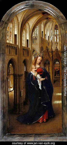 Jan Van Eyck - Madonna in the Church c. 1425