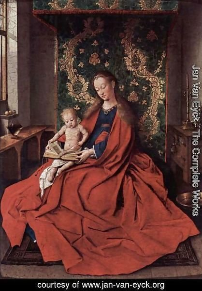 Jan Van Eyck - Madonna with the Child Reading 1433