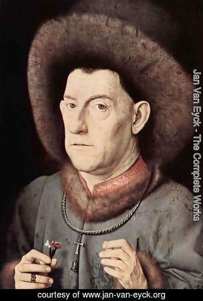 Jan Van Eyck - Portrait of a Man with Carnation c. 1435