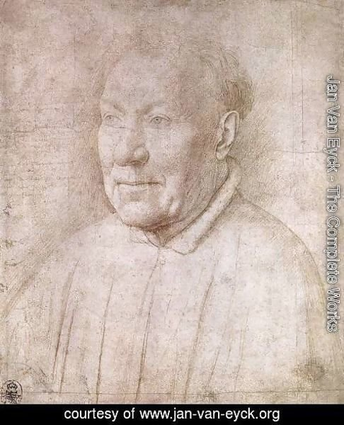 Jan Van Eyck - Portrait of Cardinal Albergati c. 1435