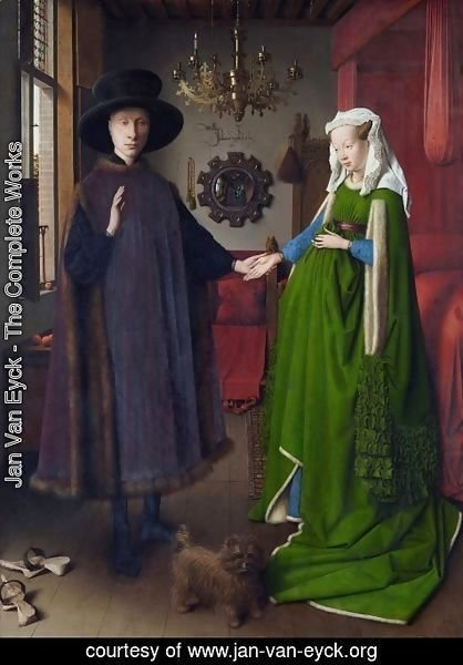 Jan Van Eyck - Portrait of Giovanni Arnolfini and his Wife 1434