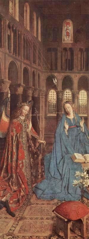 Jan Van Eyck - The Annunciation (detail) c. 1435