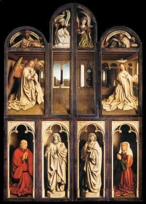 Jan Van Eyck - The Ghent Altarpiece (wings closed) 1432