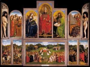 Jan Van Eyck - The Ghent Altarpiece (wings open) 1432