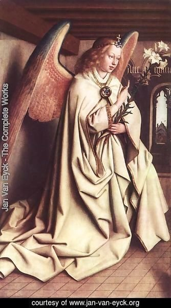 Jan Van Eyck - The Ghent Altarpiece Angel Of The Annunciation
