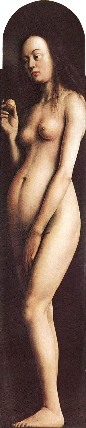 Jan Van Eyck - The Ghent Altarpiece- Eve 1425-29