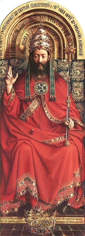 Jan Van Eyck - The Ghent Altarpiece- God Almighty 1426-27