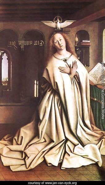 The Ghent Altarpiece- Mary of the Annunciation 1432
