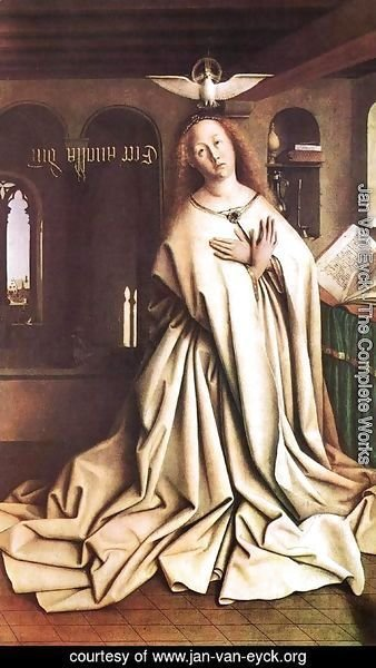 Jan Van Eyck - The Ghent Altarpiece- Mary of the Annunciation 1432