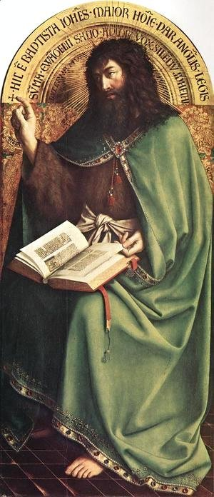 Jan Van Eyck - The Ghent Altarpiece- St John the Baptist 1425-29
