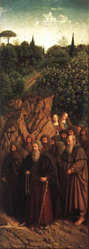 Jan Van Eyck - The Ghent Altarpiece- The Holy Hermits 1427-30