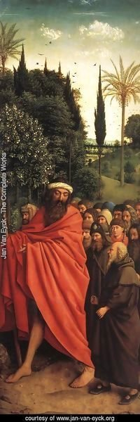 Jan Van Eyck - The Ghent Altarpiece- The Holy Pilgrims 1427-30