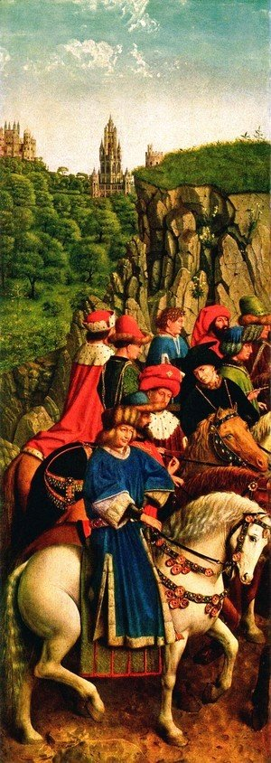 Jan Van Eyck - The Ghent Altarpiece- The Just Judges 1427-30