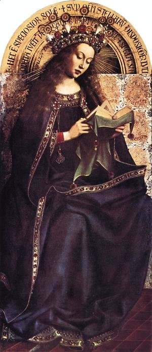 Jan Van Eyck - The Ghent Altarpiece- Virgin Mary 1426-29