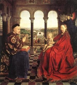 Jan Van Eyck - The Virgin Of Chancellor Rolin