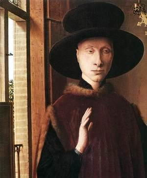 Jan Van Eyck - Portrait of Giovanni Arnolfini and his Wife (detail 1) 1434